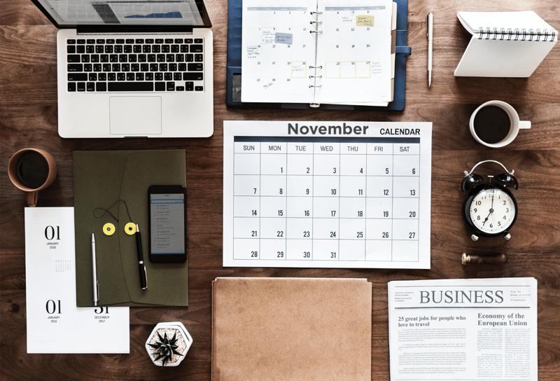 november calendar content