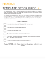 Template Order Guide