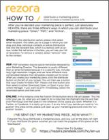 Distribute a Marketing Piece