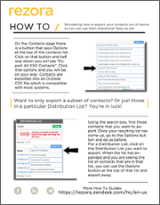 Export Contacts Out Of rezora